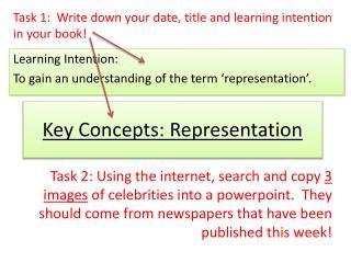 Key Concepts: Representation