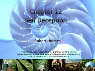 Chapter 12 Self  Deception