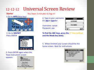 12-12-12       Universal Screen Review