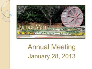 Annual Meeting January 28, 2013
