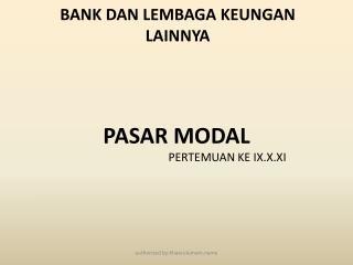 BANK DAN LEMBAGA KEUNGAN LAINNYA