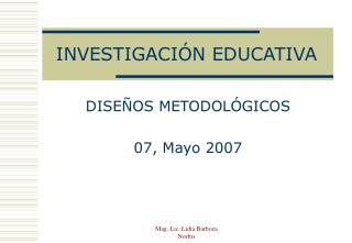 INVESTIGACI N EDUCATIVA