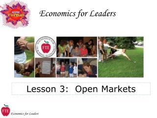 Economics for Leaders