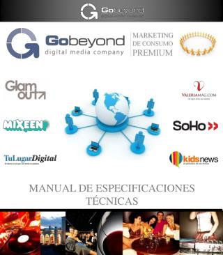 MANUAL DE ESPECIFICACIONES TÉCNICAS