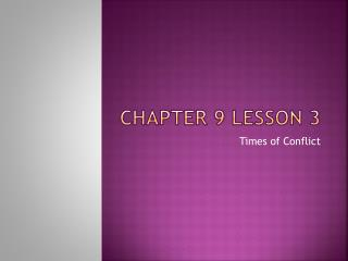 Chapter 9 Lesson 3