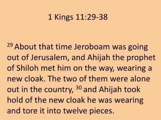 1 Kings 11:29-38