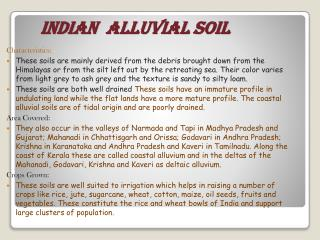 INDIAN  ALLUVIAL SOIL