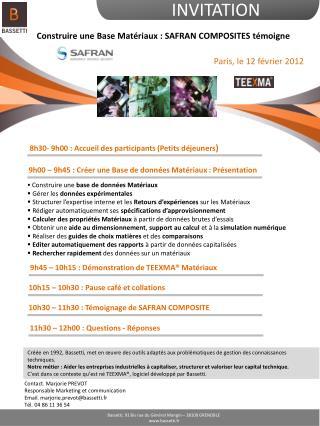 8h30- 9h00 : Accueil des participants (Petits déjeuners )