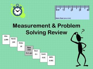 Measurement & Problem Solving Review