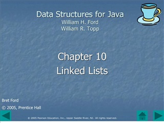 Data Structures for Java William H. Ford William R. Topp