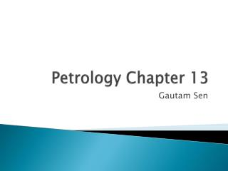 Petrology Chapter 13
