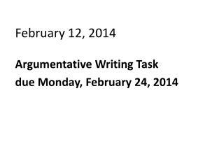 February 12, 2014