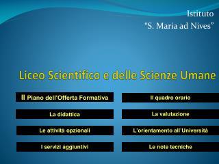 Liceo Scientifico e delle Scienze Umane