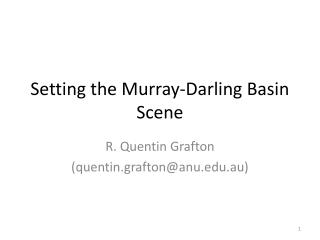 Setting the Murray-Darling Basin Scene