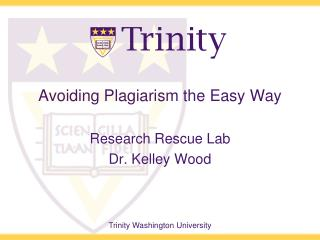 Avoiding Plagiarism the Easy Way