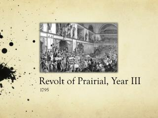Revolt of  Prairial , Year III
