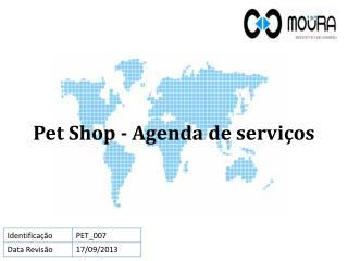 Pet Shop - Agenda  de serviços