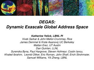 DEGAS: Dynamic  Exascale  Global Address  Space