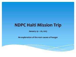 NDPC Haiti Mission Trip