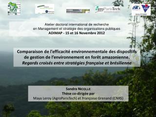 Comparaison de l'efficacité environnementale des dispositifs