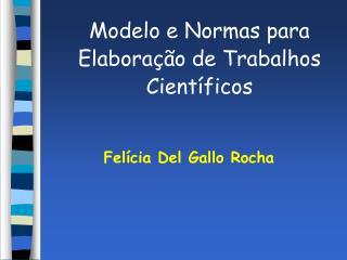 Modelo e Normas para Elabora