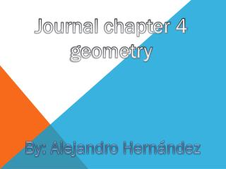 Journal chapter 4 geometry