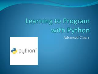 Learning to Program with Python