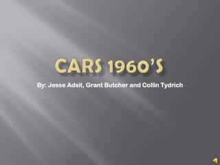 Cars 1960's