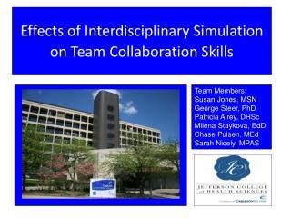 Effects of Interdisciplinary Simulation on Team Collaboration Skills