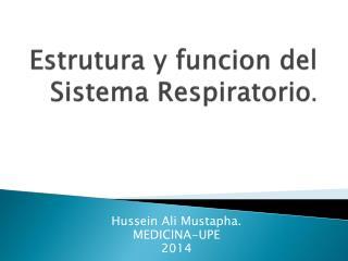 Estrutura y  funcion del  Sistema  Respiratorio .