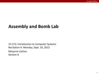 Assembly and Bomb Lab