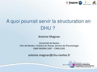 A quoi pourrait servir la structuration en DHU?