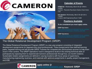 The Global Rotational Development Program (GRDP)