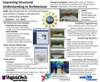 Improving Structural Understanding in Architecture