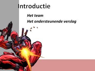 Introductie Het team Het ondersteunende verslag