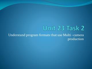 Unit 23 Task 2