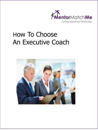 How To Choose An Executive Coach