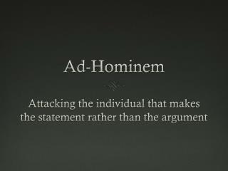 Ad-Hominem