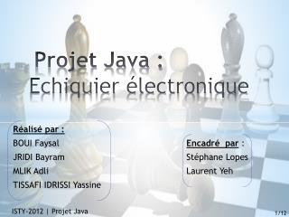 Projet  Java : Echiquier  électronique