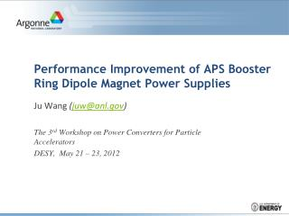 Performance Improvement of APS Booster Ring Dipole Magnet Power Supplies