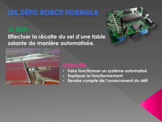 Les défis robot Formula