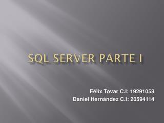 SQL Server Parte I