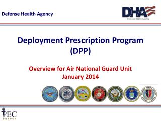 Deployment Prescription Program (DPP) Overview for Air National Guard Unit January  2014