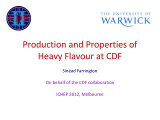 Production and Properties of Heavy  Flavour  at CDF