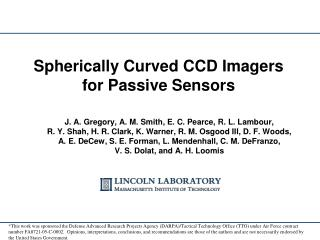 Spherically  Curved  CCD Imagers for Passive Sensors