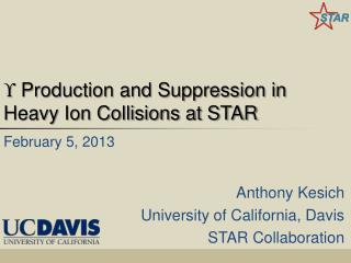  Production and Suppression in Heavy Ion Collisions at STAR