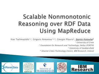 Scalable  Nonmonotonic  Reasoning over RDF Data Using  MapReduce