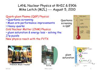 LANL  Nuclear Physics at RHIC & E906 Mike  Leitch  (MJL) --- August 5, 2010