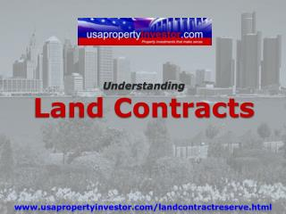Understanding Land  Contracts