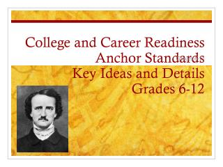 College and Career Readiness Anchor Standards Key Ideas and Details Grades 6-12